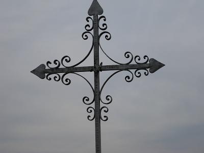 Croix Saint Maurice, cimetière de Champvallon