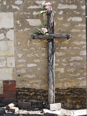 Croix de bois, chemin des Latteux, Guerchy