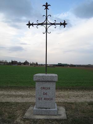 Croix de saint Roch, Route de Guerchy, Neuilly